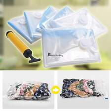 6 X-Large Space Saver Vacuum Seal Storage Bags for Clothes Blankets Compressed