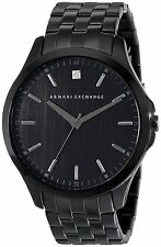 Armani Exchange Men's AX2159 Diamond Black Dial Black Steel Bracelet Watch