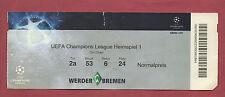 Orig.Ticket   Champions League  10/11  WERDER BREMEN - SAMPDORIA GENUA !! SELTEN