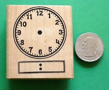 Digital Clock Teacher's Rubber Stamp, wood mounted