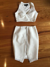 Kendall + Kylie for Forever New white mesh two piece outfit - Size 10
