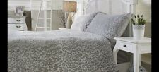 COZEE HOME Leopard Embossed Angel Plush 4 Piece Duvet Set Grey Double NEW