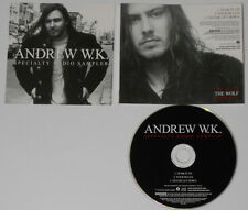 Andrew WK  Specialty Radio Sampler  2002 U.S. promo cd  hard-to-find