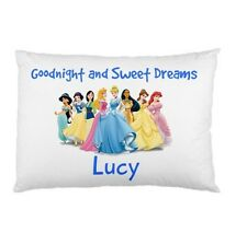 DISNEY PRINCESSES Personalized childrens kids BED pillow case