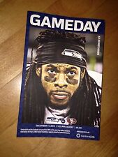 Seattle Seahawks 49ers Tickets Holder Only GAME DAY PROGRAM Sherman 12/14/14