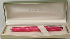 Levenger True Writer Pink & Chrome Fountain Pen - Fine Nib - New