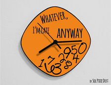 Whatever I'm Late Anyway / Oval Orange - Wall Clock