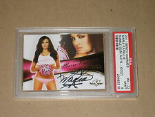 MARIA KANELLIS Benchwarmer 2011 signed sexy WWE pinup model autograph auto PSA 9