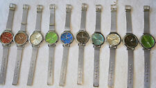 Joblot 20 pcs Mens Mixed colour metal wrist strap Quartz Watches new Wholesale 4