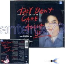 "MICHAEL JACKSON ""THEY DON'T CARE ABOUT US"" CDsingolo 6 BRANI"