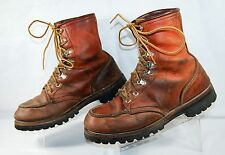 VTG IRISH SETTER Red Wing Moc Toe Leather Boots Brown Men's 8 D