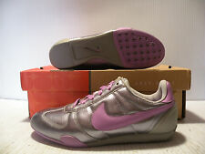 NIKE SPRINT SISTER LEATHER SNEAKERS WOMEN SHOES SILVER 311919-051 SIZE 5.5 NEW
