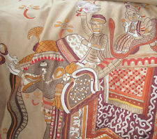 PRECIOUS Hermes Embroidered Blanket Throw Beloved India Marevlous and Rare!