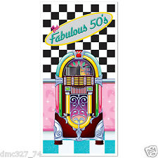FABULOUS 1950s Sock Hop GREASE Party Decoration JUKEBOX DOOR Wall COVER MURAL