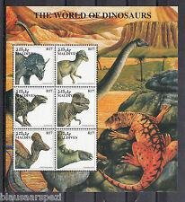 A 31 ) Malediven - Die Welt der Dinosaurier herrlicher Kleinbogen postfrisch MNH