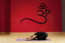 Wall Decal Vinyl Sticker Decals Om sign yoga quote lettering Hindu Buddha bo2627