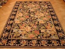 NEW Needlepoint 9 x 6 Rug Hand Woven colorful Floral