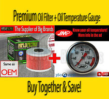 Premium Oil Filter & Oil Temperature Gauge - HF112- Honda FMX 650 Funmoto - 2005