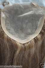 """Full Lace Silk Top Closure 7x7 Human Hair Indian Remy Remi Partial Wig 18"""""""