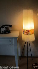 Original Plissee Lampe Stehlampe 50er Jahre Fifties 50s Tripod Leuchte