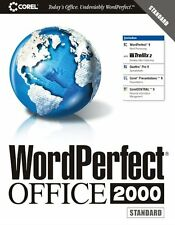 Corel Wordperfect Word Perfect 2000 9.0 Office Standard