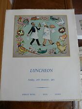 LUNCHEON BOXING DAY 1965 -- DUDLEY HOTEL - HOVE  - SUSSEX  MENU  VGC 20 X 24cm