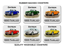 DATSUN  1600  FAIRLADY ROADSTER       SET OF 6   QUALITY RUBBER DRINK  COASTERS