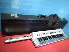 YAMAHA KX-5 KX5 MIDI Shoulder Keyboard Silver Colored Keys Rarel w/ Yamaha Case