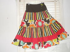 NWT Oilily Archives ~ Art to Wear ~ Rare Wmn's Vibrant Tiered Skirt ~ 44 XL