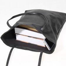 Lady Women Hobo Large Handbag PU Faux Leather Satchel Tote Shoulder Bag Black