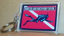 Scuba Rescue and Recovery Diver key ring.