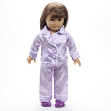 Handmade new clothes Pajamas for 18inch American girl doll party b175