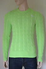 NEW Abercrombie & Fitch Wolf Pond Cable Knit Sweater Jumper Lt Green XL RRP £98