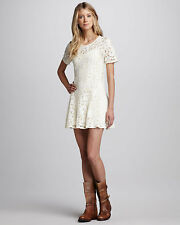 FREE PEOPLE Beautiful Dreamer Ivory Lace Dress - XS