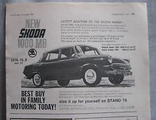 1964 Skoda 1000MB Original advert