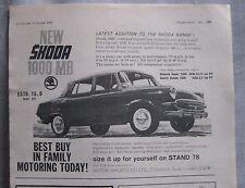 1964 Skoda 1000MB Original advert