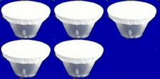 """Five  7"""" White Diffuser Sock for Hensel Reflector Beauty Dish NEW"""