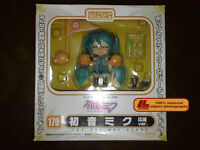 "ANIME VOCALOID Nendoroid 170 Cheerful Hatsune Miku 4"" Figure 4Faces Gift Toy NIB"