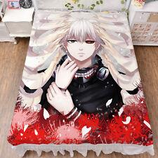 Anime Tokyo Ghoul Ken Kaneki  Summer Slick Flat Bed sheet Bedding Gift #64