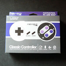 RetroLink SNES Super Nintendo PC Mac USB Controller RetroBit Gamepad Joystick