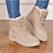 Free Ship Women Winter Fur Lined Warm High Top Shoes Casual Snow Ankle Boots UK6