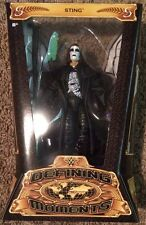 WWE WCW Defining Moments Sting Figure w/ Coat & Bat NEW MOC