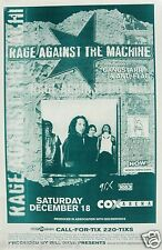 "RAGE AGINST THE MACHINE ""BATTLE OF LOS ANGELES TOUR"" SAN DIEGO CONCERT POSTER"