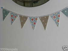 1M Bunting bandiere WEDDING HM Cath Kidston Provence Rose Duck Egg Talpa a Pois