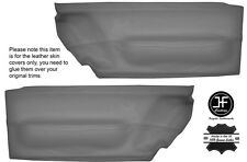 Cuir gris 2X porte avant carte trim covers fits vw beetle 1998-2010