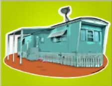 "*Postcard-""Long Live-In Trailer""  w/Small Car Port*TV Dish  --CLASSIC--"
