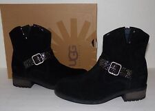 UGG Australia Milnor Women's Black Suede Ankle Boots Booties US 6/EU 37 New NIB