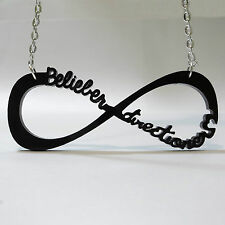 NECKLACE BELIEBER + DIRECTIONER INFINITY PENDANT ONE DIRECTION JUSTIN BIEBER WOW