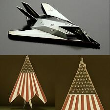 US Air Force F-117A Stealth Fighter American Flag Diecast Challenge Coin
