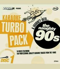 ZOOM KARAOKE CDG     90s HITS TURBO PACK  188 TOP TRACKS ON 10 DISCS    NEW